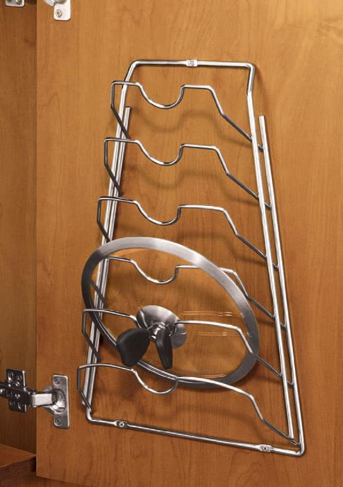 cabinet door lid rack chrome