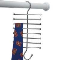Chrome Tie Rack in Tie and Belt Hangers