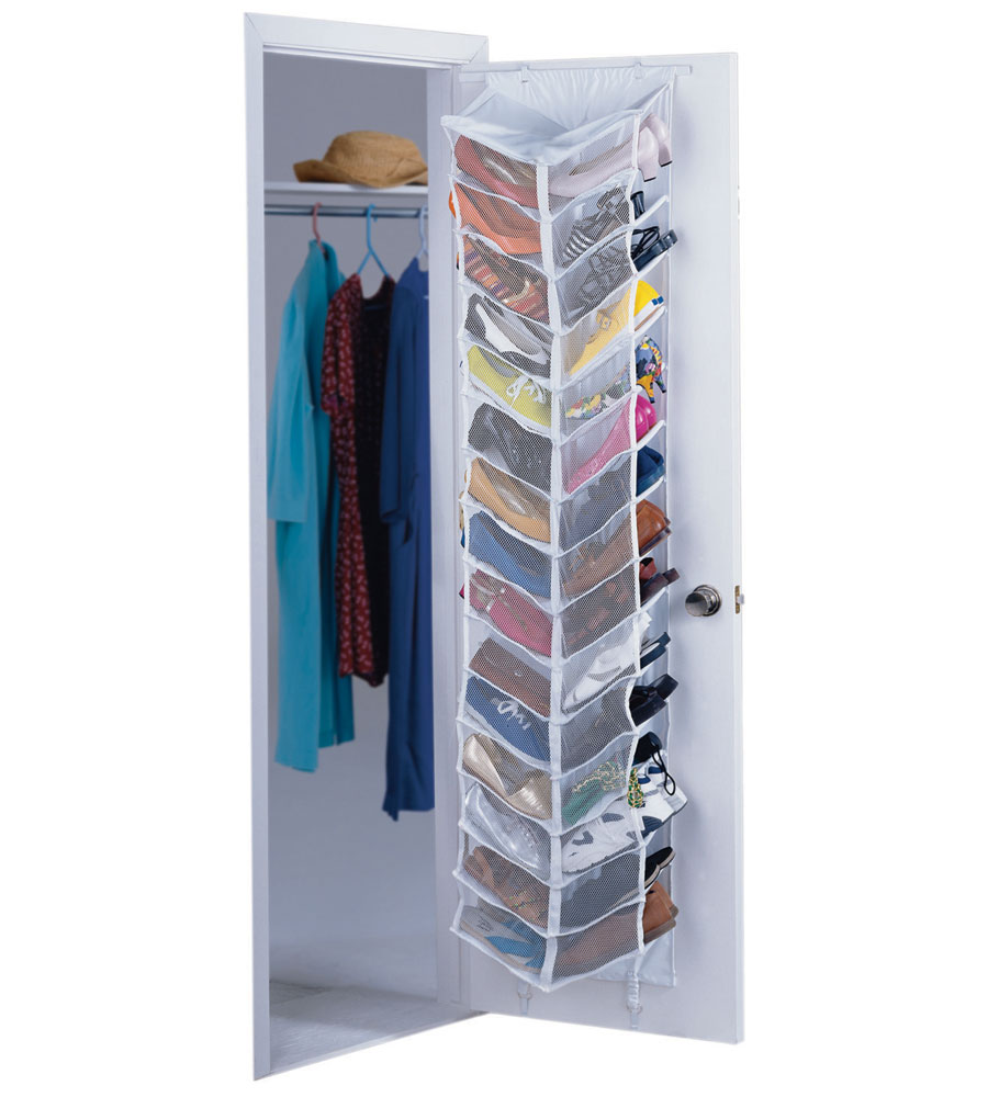 Closet Door Shoe Organizer in Over the Door Shoe Racks