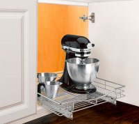 Deep Chrome Roll-Out Cabinet Organizer - 20 Inch in Pull ...