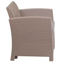 Faux Rattan Patio Chair - Charcoal In Outdoor Chairs