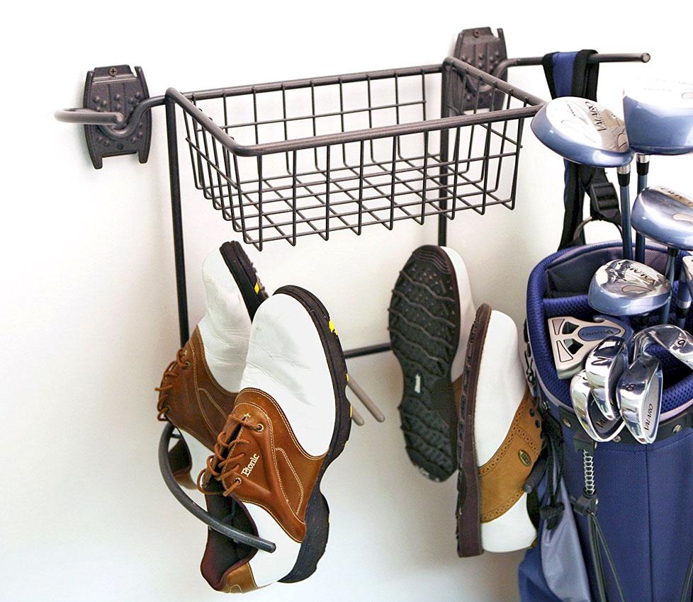 golf storage rack and basket
