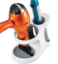 Hair Dryer and Flat Iron Holder in Hair Dryer Holders