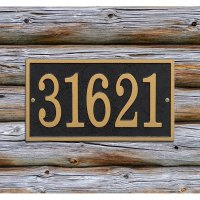 Home Address Plaque - Rectangle - Fast and Easy in House ...