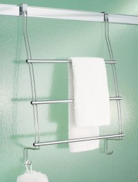 InterDesign Chrome Over the Door Towel Rack in Over the