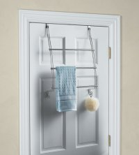 InterDesign Chrome Over the Door Towel Rack in Over the ...