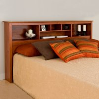 Wood Bookcase Headboard. Storage Headboard Bookcase King