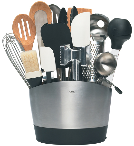 kitchen utensils holder cabinet stain colors oxo stainless steel utensil in holders click any image to view high resolution