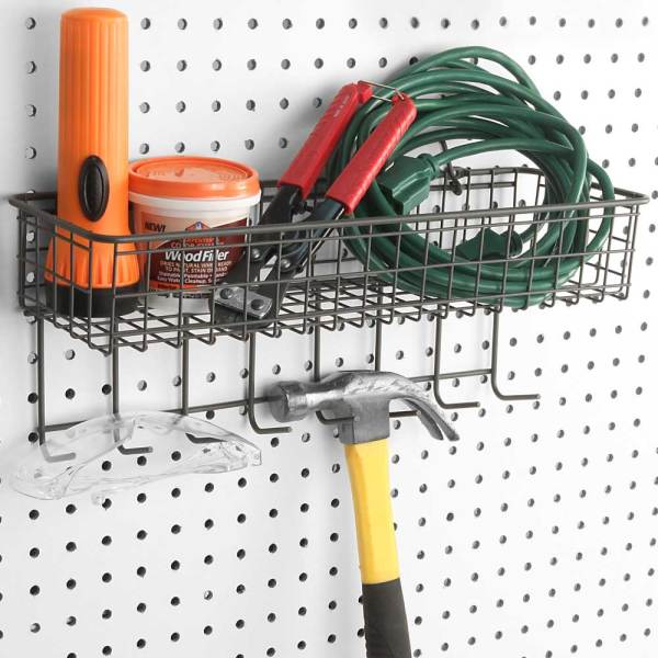 Pegboard Basket And Hook Station In Pegboards