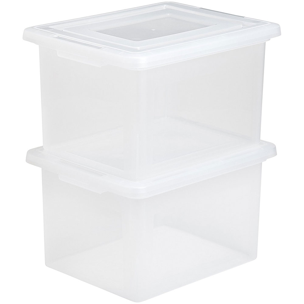 Stackable File Box in File Storage Boxes