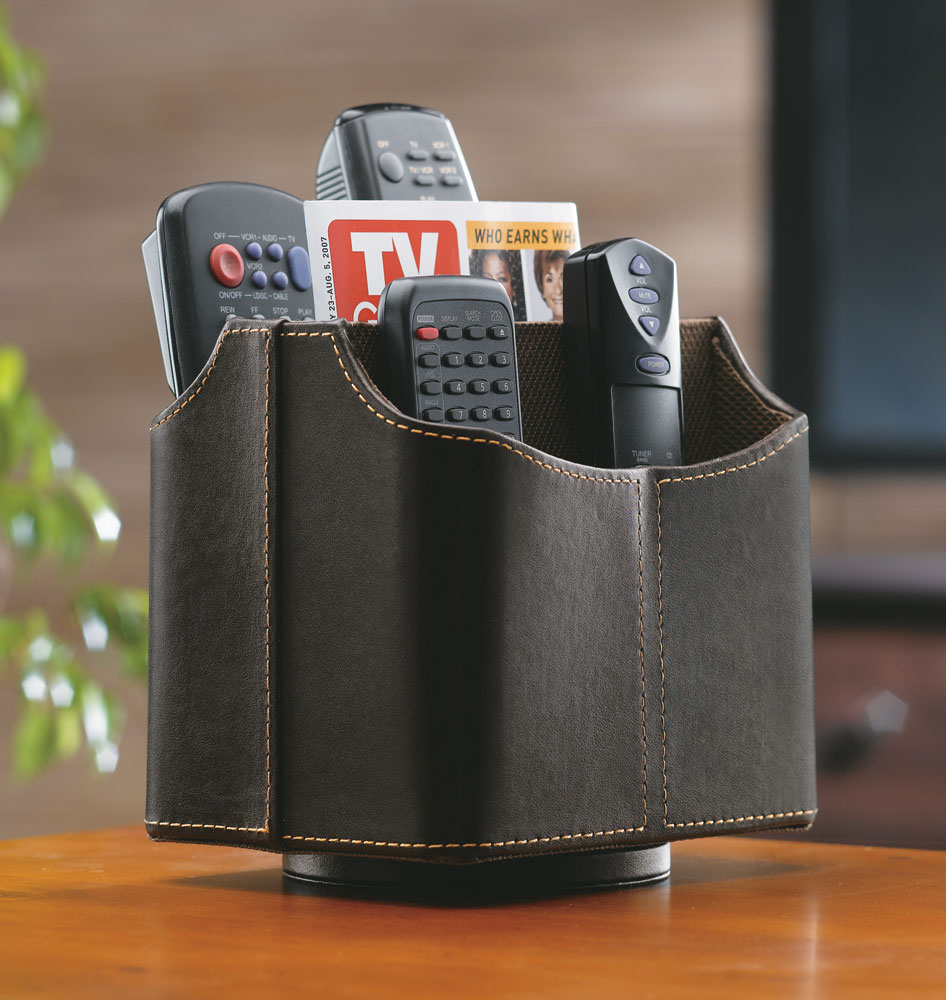 Spinning Remote Control Caddy  Brown in Remote Control