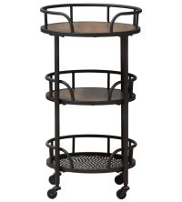 Rolling Bar Cart in Restaurant Utility Carts