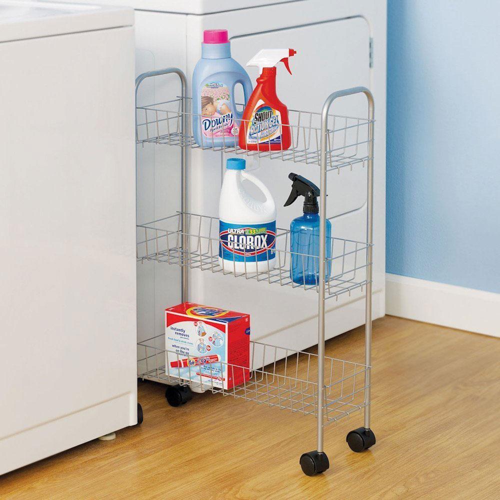& Laundry Room Detergent Storage Cart