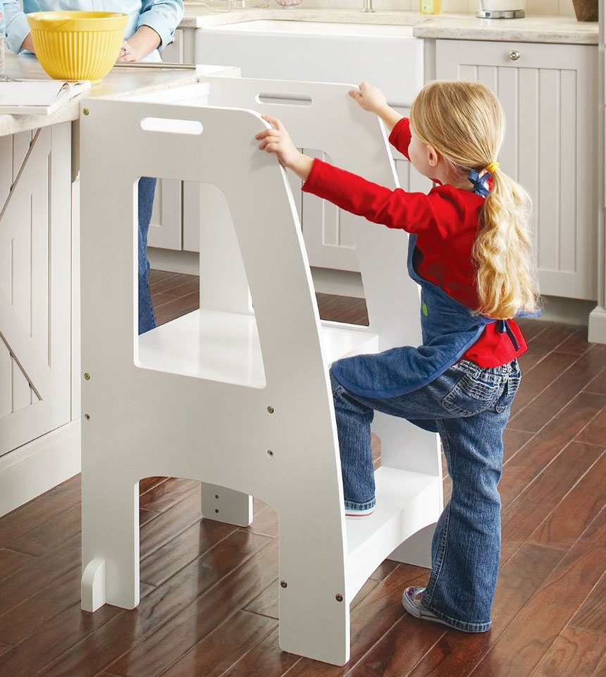 kitchen step stool industrial lights up helper in kids stools