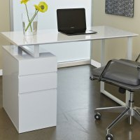 Student Desk with Drawers in Desks and Hutches