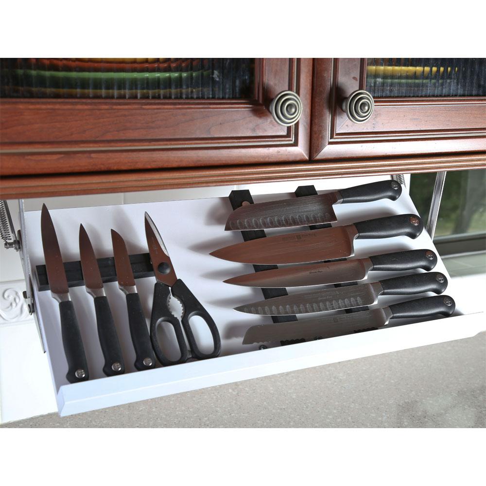 Under Cabinet Knife Block  White in Knife Storage