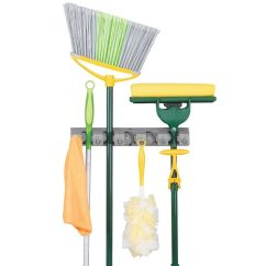 Kitchen Tool Holder Beautiful Islands Wall Mop And Broom In Holders