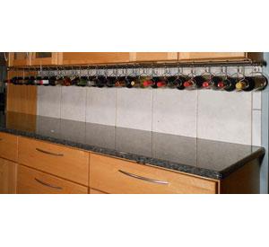 Stainless Steel Under Cabinet Wine Rack in Wine Racks