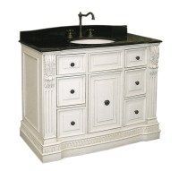 Antique White Vanity Cabinet in Bathroom Vanities