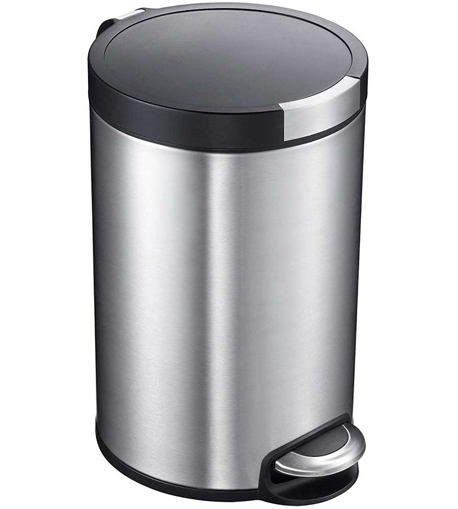 kitchen trash can dimensions moen hands free faucet 5l artistic stainless steel pedal in ...