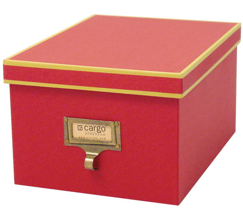 Cargo Atheneum Dvd Storage Box Red In Photo Boxes