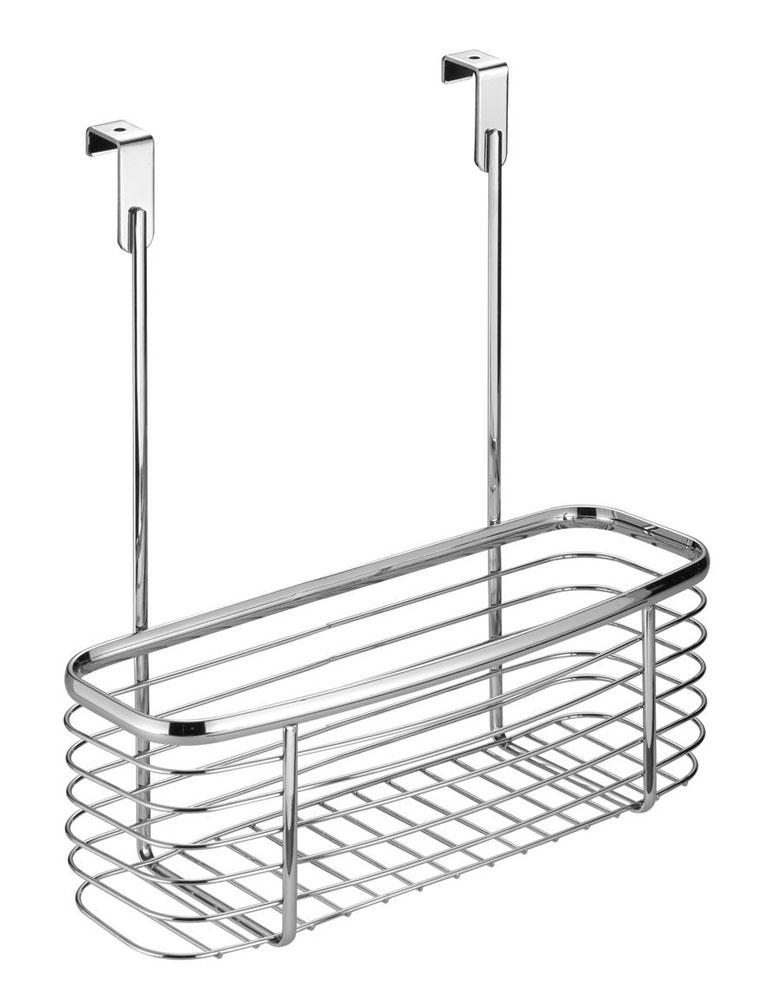 Axis Chrome Over Cabinet Storage Basket in Cabinet Door