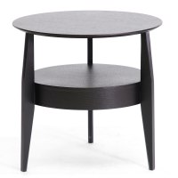 Gretton Wood End Table with Drawer - Black in Side Tables
