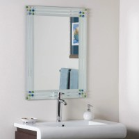 Bejeweled Frameless Bathroom Mirror by Decor Wonderland in ...