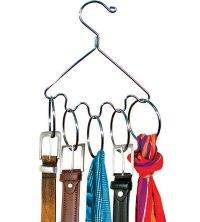 Belt Hanger with Rings in Tie and Belt Hangers