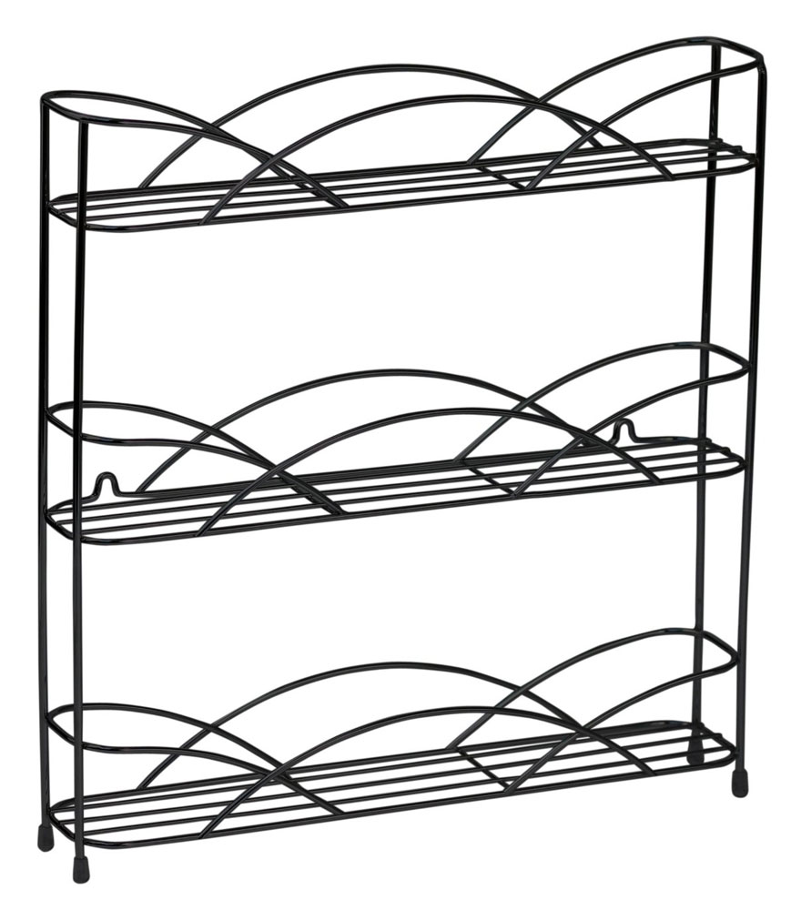 Black Wire Wall-Mount Spice Rack in Spice Racks