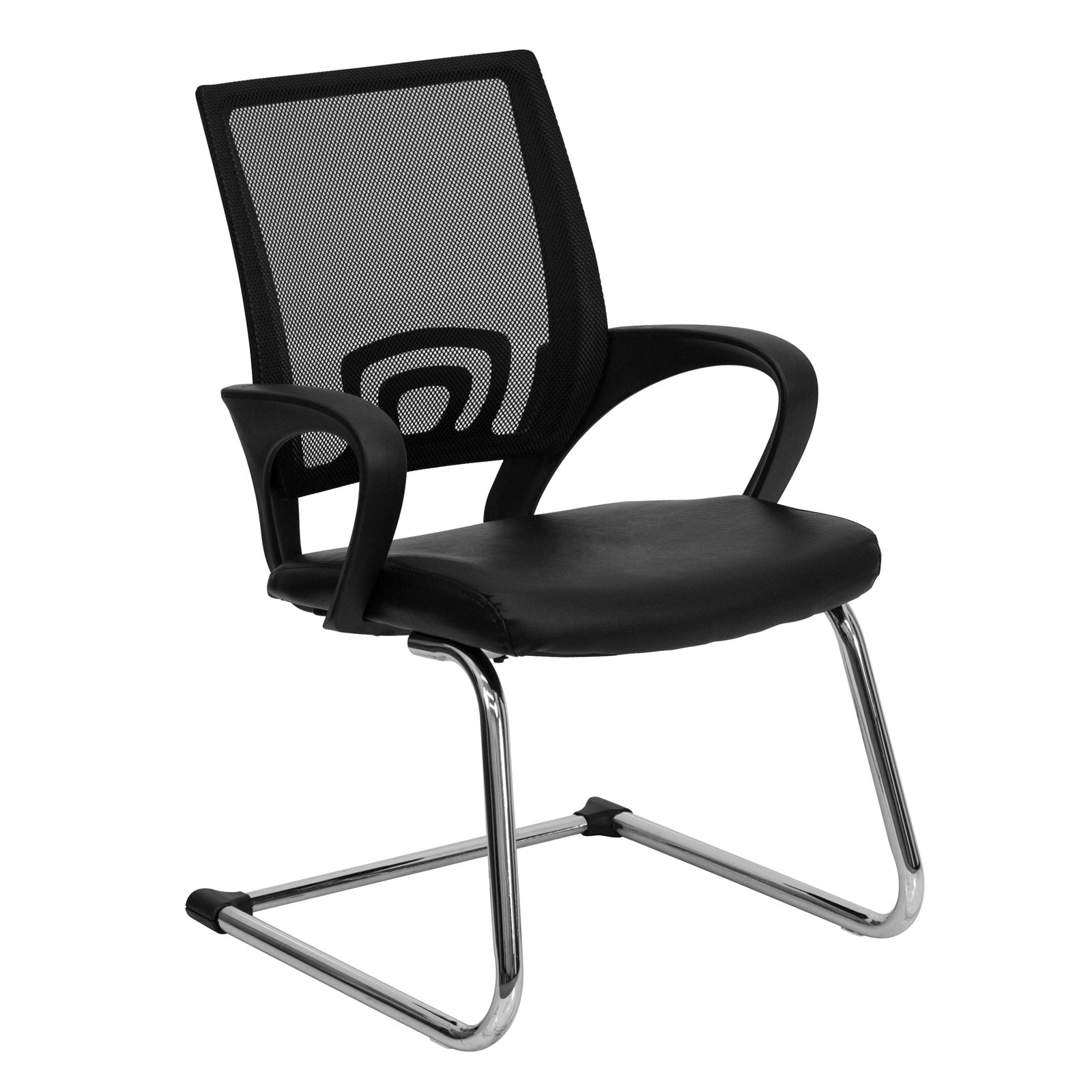 office side chairs quickie wheelchair parts bonded leather chair with mesh back by flash