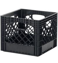 Buddeez Milk Crate Storage Bin - Black (Set of 2) in ...