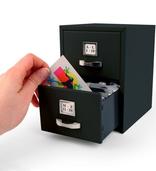 Business Card File Cabinet in Desk Accessories