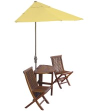 Caleo 5-Piece Wood Patio Set in Outdoor Furniture Collections
