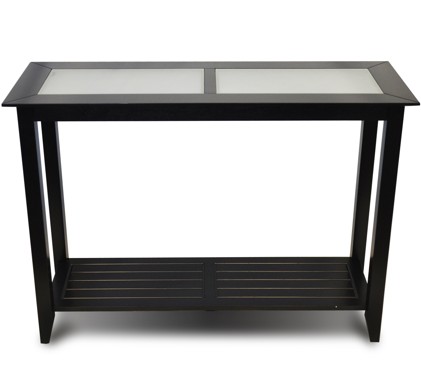 slimline sofa side table teak wood set singapore slim accent console black in