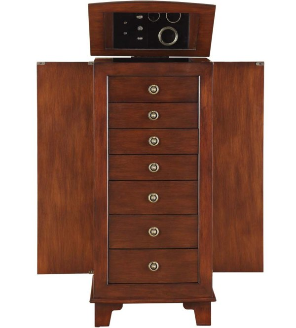 Jewelry Armoire Locking Drawers