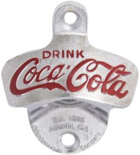 Coca-Cola Wall Mount Bottle Opener in Bottle and Can Openers