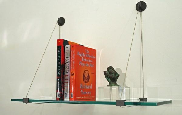 Floating Glass Shelf - 12 Deep In Wall Mounted Shelves