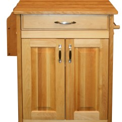 Butcher Block Kitchen Island Cart Faucet Single Hole Table Hardwood Birch In Carts