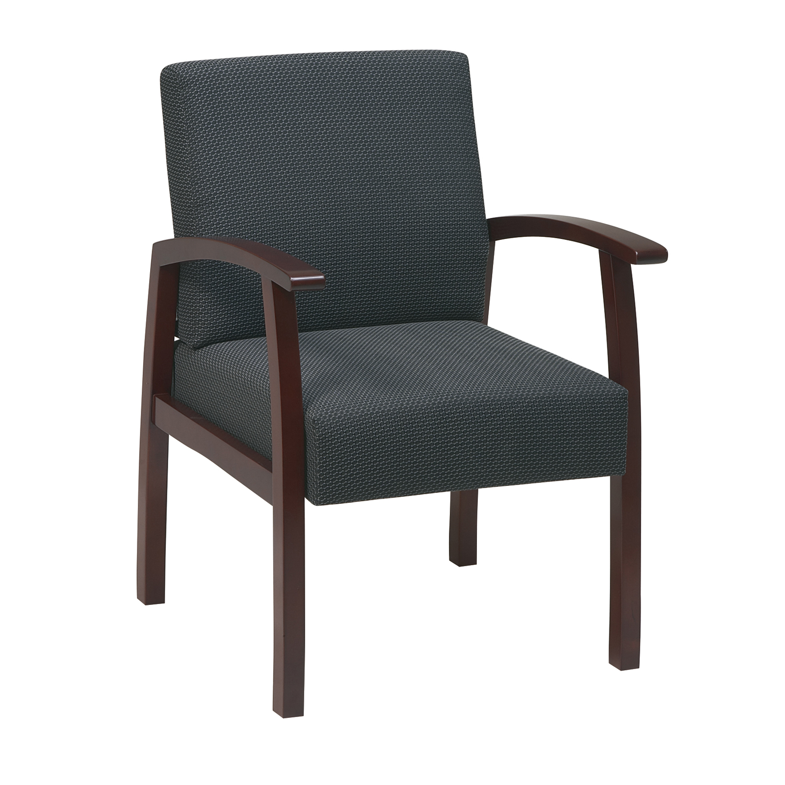 office chairs for guests big living room deluxe cherry finish guest chair by star in waiting