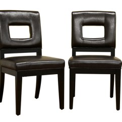 Contemporary Leather Dining Chairs Swing Chair Models Modern Set Of 2 In