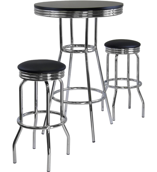 Diner Table and Stools in Bar Table Sets
