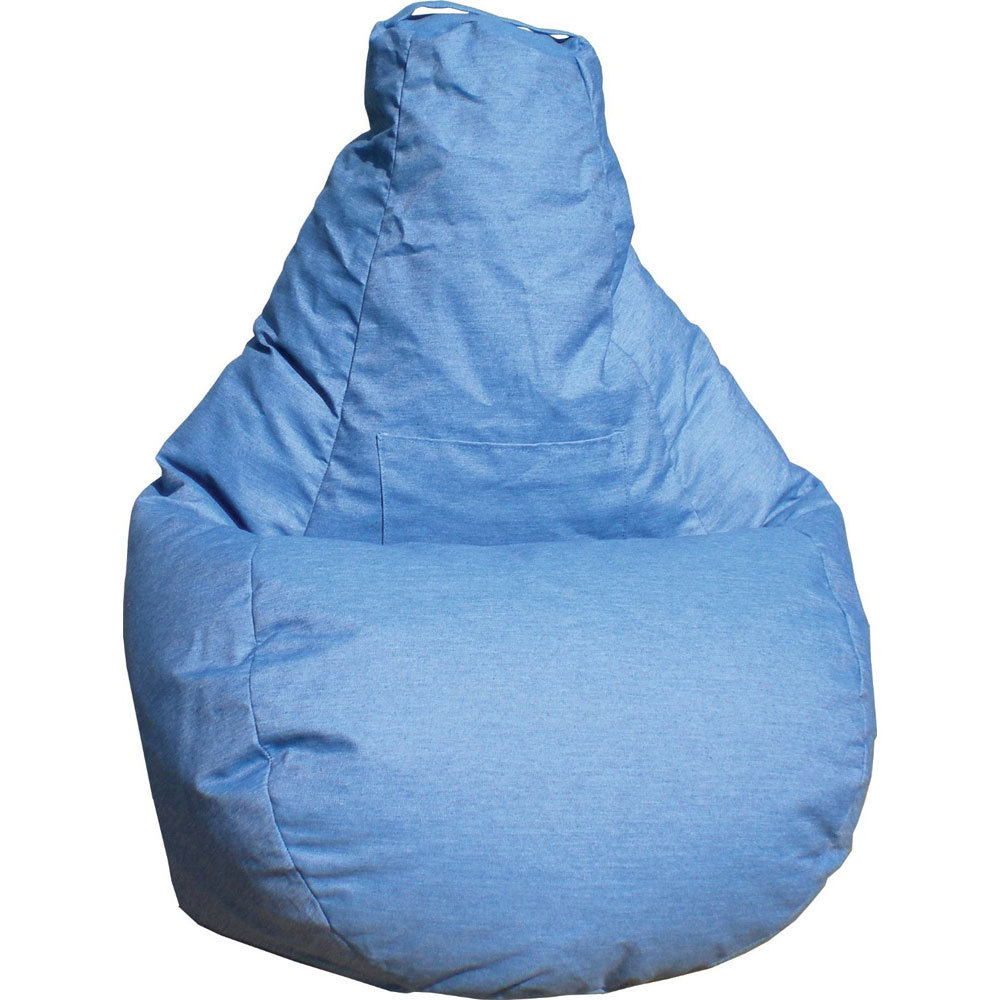 denim bean bag chair big man recliner dorm - in chairs