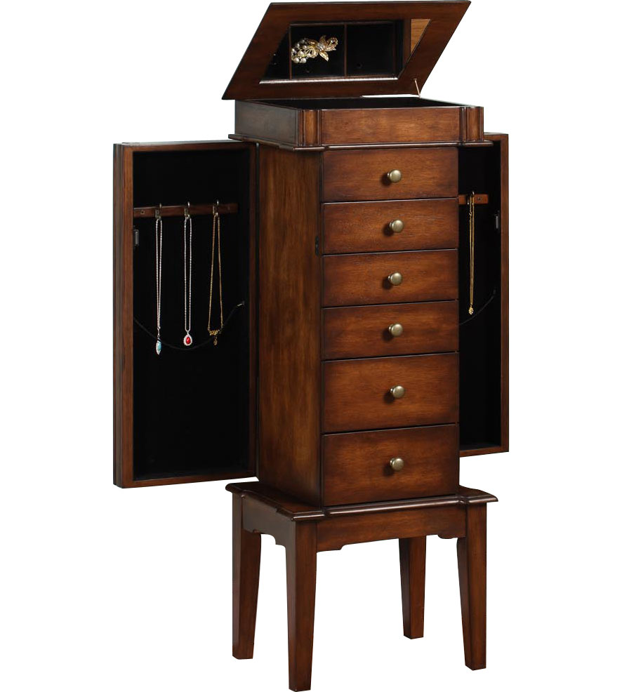 Traditional Jewelry Armoire In Jewelry Armoires