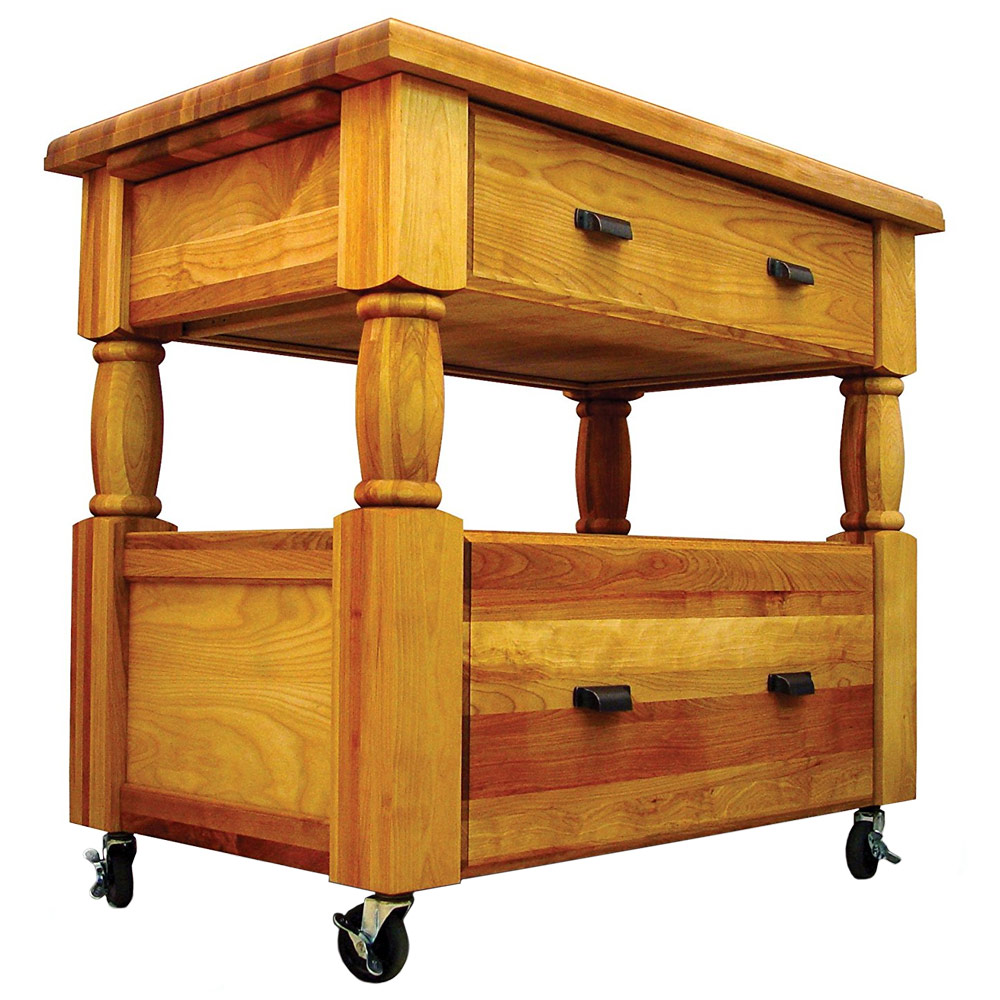 Europa Rolling Kitchen Island in Kitchen Island Carts