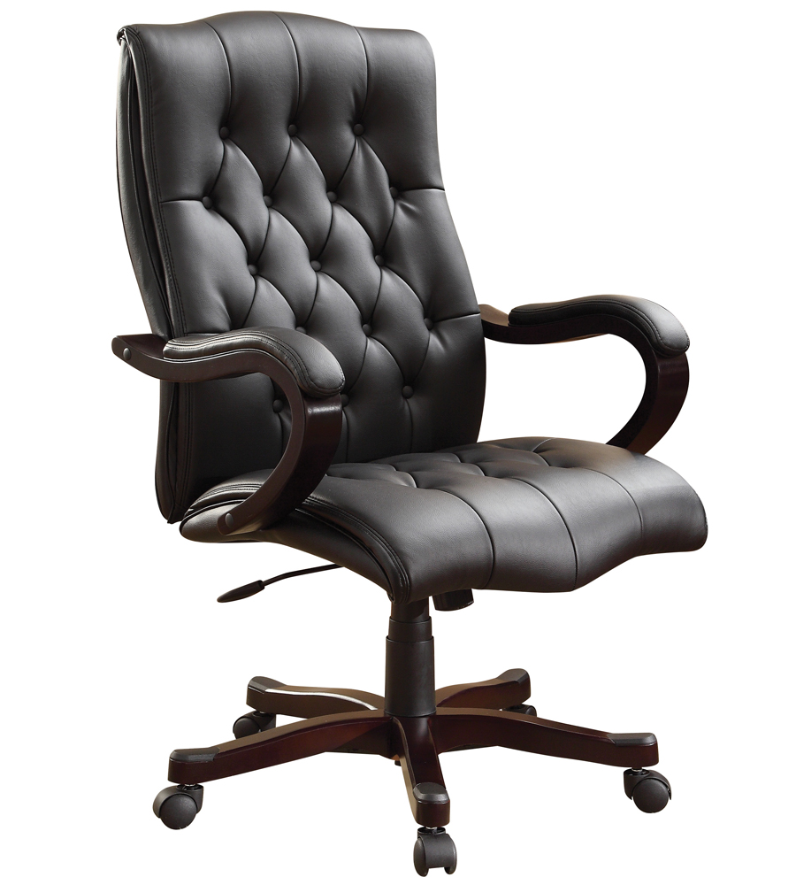 Executive Office Chair  Black Leather in Office Chairs