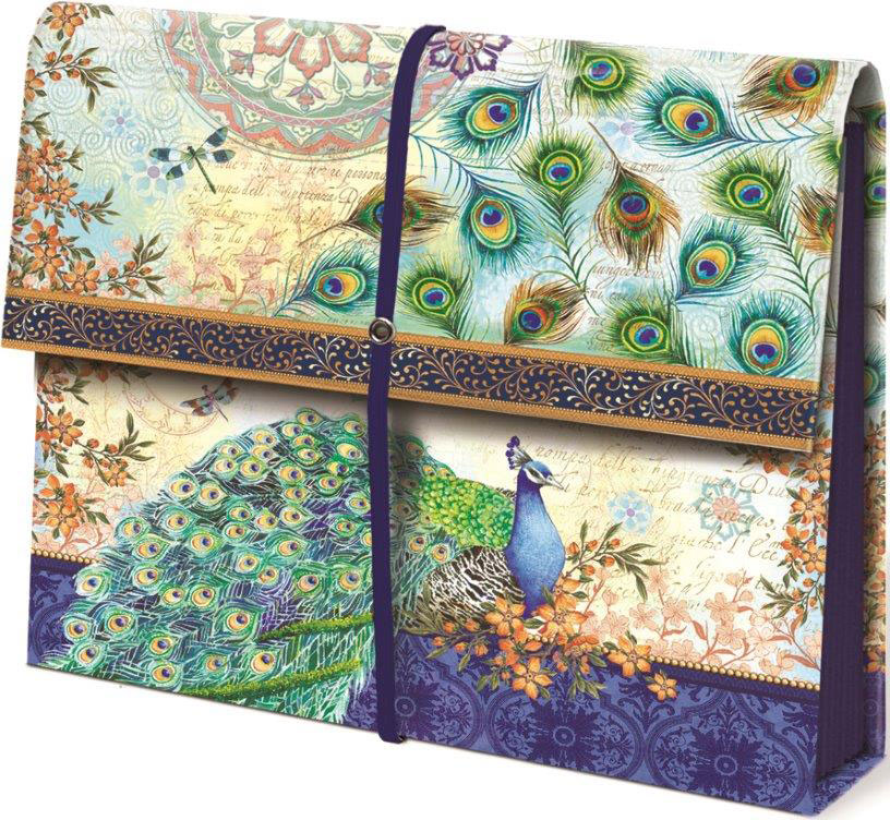 Expanding File Folder  Peacock in File Storage Boxes