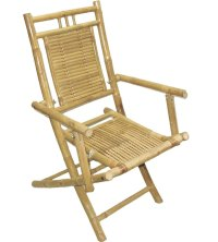 Folding Bamboo Chairs (Set of 2) in Outdoor Chairs
