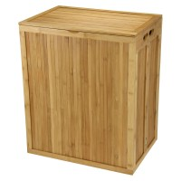 Laundry Hamper - Folding Bamboo in Clothes Hampers