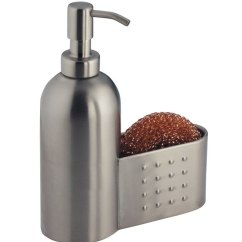 Kitchen Soap Caddy Countertop Prices Stainless Pump With Sponge Holder In Dispensers